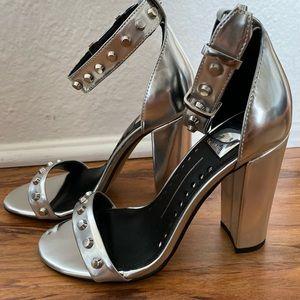 Silver studded dolce vita block heels